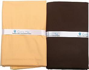 Cotts Hub Men's Cotton Shirt & Trouser Fabric, 100% Pure Cotton - Combo Cut Piece Set in Gift Box (FF88)