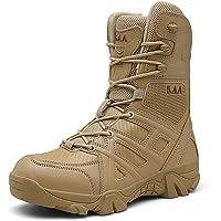 Treasu-LQ Bottes de randonnée Tactiques Militaires imperméables Montantes pour Hommes Bottes de Trekking Anti-Sable et…