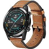 SPGUARD Bracelet Compatible avec Bracelet Huawei Watch GT 2 Bracelet Huawei Watch GT 2 Pro,22mm Bracelet en Cuir de Rechange