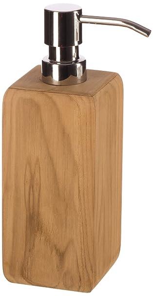 Seifenspender holz  Möve Teak Seifenspender, Farbe wood, 7x7x20 cm: Amazon.de: Küche ...