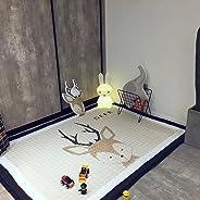 Baby Crawling Mat Cute Giraffe, Bear, Elk Play Carpet Children Bedroom Decor Living Room Rugs Baby Play Mat Cotton Floor Gym