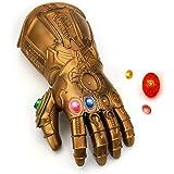 NUWIND Guante de Thanos con Luz Infinity Gauntlet de los Vengadores Magnética Gemas Desmontable Disfraz de Cosplay Halloween