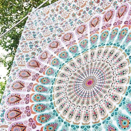 Tapiz de pared para colgar con diseño de mandala estilo hippie para...