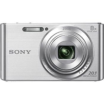 "Sony DSC-W830 - Cámara compacta de 20.1 Mp (pantalla de 2.7"", zoom óptico 8x, estabilizador óptico), plata"