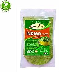 Indigo Powder For Hair | Herbal Neel Powder | 100% Pure Organically Processed Hair Dye - Black by Malvaniya Herbal Care (255 gms)
