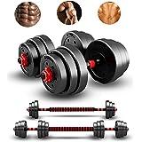 CANMALCHI Haltergewichten set 20/30/40KG, Barbell-set met drijfstang,verstelbare til-trainingsset voor trainingstraining, per