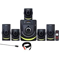 TRONICA Version:1 Atom Series LED Spectrum 5.1 Home Theater System with Bluetooth/SD Card/Pen Drive/FM/AUX Support…