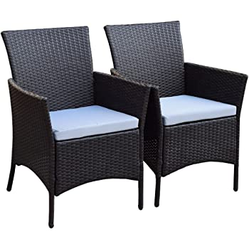 estexo 2er set polyrattan gartenst hle rattan. Black Bedroom Furniture Sets. Home Design Ideas