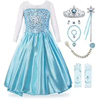 KABETY Filles Princesse Anna Robe Reine des neiges Costume Robe de soirée Elsa Costume Robe De Fête