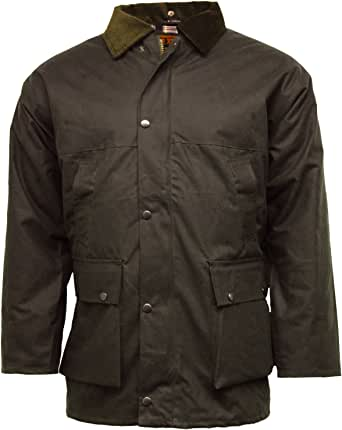 Game Technical Apparel New British Quilted Padded Country Wax Cotton Rain Jacket