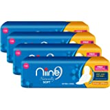 Niine Naturally Soft Extra Long Sanitary Pads for women (Pack of 4), With Biodegradable disposable bags inside, 24 Pads…