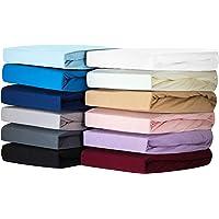 Silky Jersey (Lot de 2) Draps Housse Qualité Supérieur 100% Coton, Drap de lit en Jersey Extensible, Doux et Un…