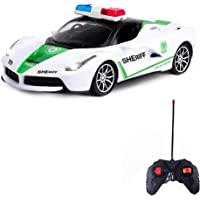 Wishkey Remote Control Police Car with Lights, Super High Speed,Stylish Look & Modern Design-RC Vehicle Toy for Kids