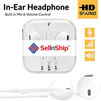 SellnShip Wired Earphones 3.5mm Jack with Remote & Mic for all Smartphones