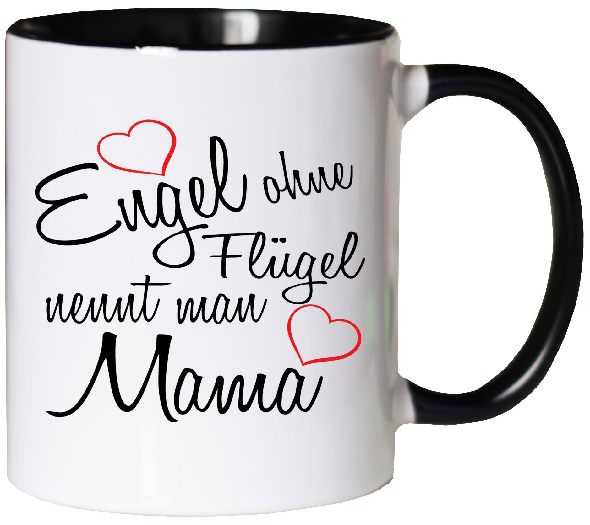 Mister Merchandise Kaffeebecher Tasse Engel ohne Flügel nennt Man Freundin Beste Freundin BFF Girlfriends Freund Mädels Teetasse Becher Weiß