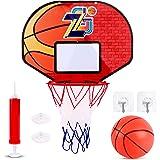 Basketball Hoop Toy Set with Ball, Mini Basketball Hoop Set for Basketball Lovers Boys Girls Indoor Outdoor