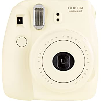 Fujifilm - Instax Mini 8 Appareil - Appareil Photo Instantané - Taille d'image 46 x 62mm (L x H) - Blanc