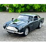 Magicwand® 1:32 Scale Die-Cast Aston Martin DB5 Classic with 4 Openable Doors Music,Lights & Pull Back Action(Colors As Per Stock)