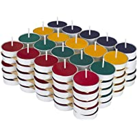 Kaameri Bazaar - Colored Wax Tealight Candles (Set of 100, Unscented)
