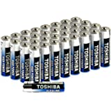 Toshiba AAA Alkaline Batteries 40 Pack   High Power   Extra Long Operating Time   LR03 Superior Japanese Quality   Super Valu
