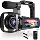 4K Camcorder, Video Camera Ultra HD 48MP with 3.0 Inch 270° Rotatable Touch Screen, 16X Digital Zoom IR Night Vision…