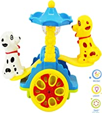 Vivir colourful Rotating Light and Music Cute Dog See Saw Toy for Boys and Girls (Multicolour)