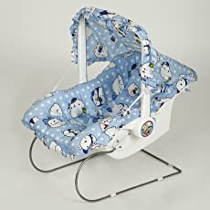 NHR Multipurpose Blue Baby Carry cot with Sun Shade