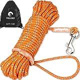 Taglory Lungo guinzaglio da addestramento per Cani 15 m, Nylon Resistente Guinzaglio a Corda, Utile per Controllo e Addestram