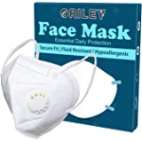 ORILEY CE & ISO Certified 5 Layer Disposable Face Mask with Nose Pin & Respirator for Men & Women (1 PC)