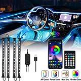 OTHWAY - Striscia di luci a LED per auto, impermeabile, 4 pezzi con 48 LED controllati tramite app Bluetooth…
