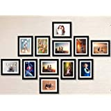 "AG Crafts™ Classic Frame with Mount Set of 12 Individual Photo Frames (6""x8""-12 Set with Mount) (Black with Mount)"