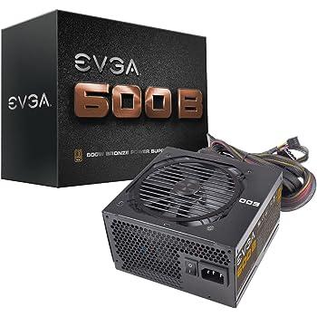 EVGA 600B 600W Black power supply unit - Power Supply Units (600 W, 100-240, 50-60, 130 W, 588 W, 130 W)