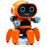 WireScorts® Pioneer Bot Robot Colorful Lights and Music | All Direction Movement | Dancing Robot Toys for Boys and Girls | Mu