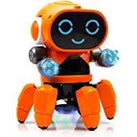 WireScorts® Pioneer Bot Robot Colorful Lights and Music | All Direction Movement | Dancing Robot Toys for Boys and Girls…