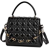 Travistar Handtaschen Damen, Mittlere Top Griff Tasche mit Abnehmbarer Kettendekoration Umhängetasche Crossbody Bag für Fraue