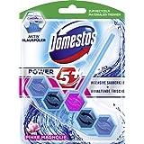 Domestos WC-steen Power 5+ Actieve blauwe spoelaar roze magnolie, 7 stuks (7 x 55 g)