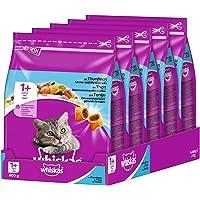Whiskas Katzen-/Trockenfutter Adult 1+ für erwachsene Katzen mit Thunfisch, 5 Beutel (5 x 800 g)