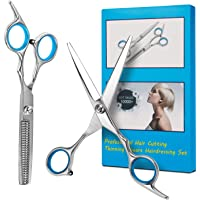 Bubuxy Haarschere, professionelles Haarschneide-Set, Effilierschere, Ausdünnschere, Friseur-Set, Edelstahlschere