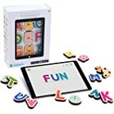 Marbotic - Smart Letters pour Tablettes iPad ou Samsung - De 3 à 5 Ans - Lettres Alphabet & Nombres Interactifs en Bois - Jeu