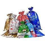 30 sacchetti da imballaggio, sacchetti da imballaggio in stagnola, 6 diversi disegni per confezioni regalo di Natale con…
