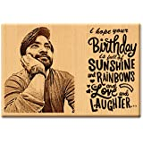 Incredible Gifts India Personalized Wooden Happy Birthday Frame for Him and Her (6 X 4 Inch, Beige)