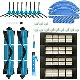 BSDY YQWRFEWYT Kit de Accesorios de Limpieza para Robots aspiradores Conga 3090 Excellence: 8 cepillos Laterales,4 Cepillo Ce