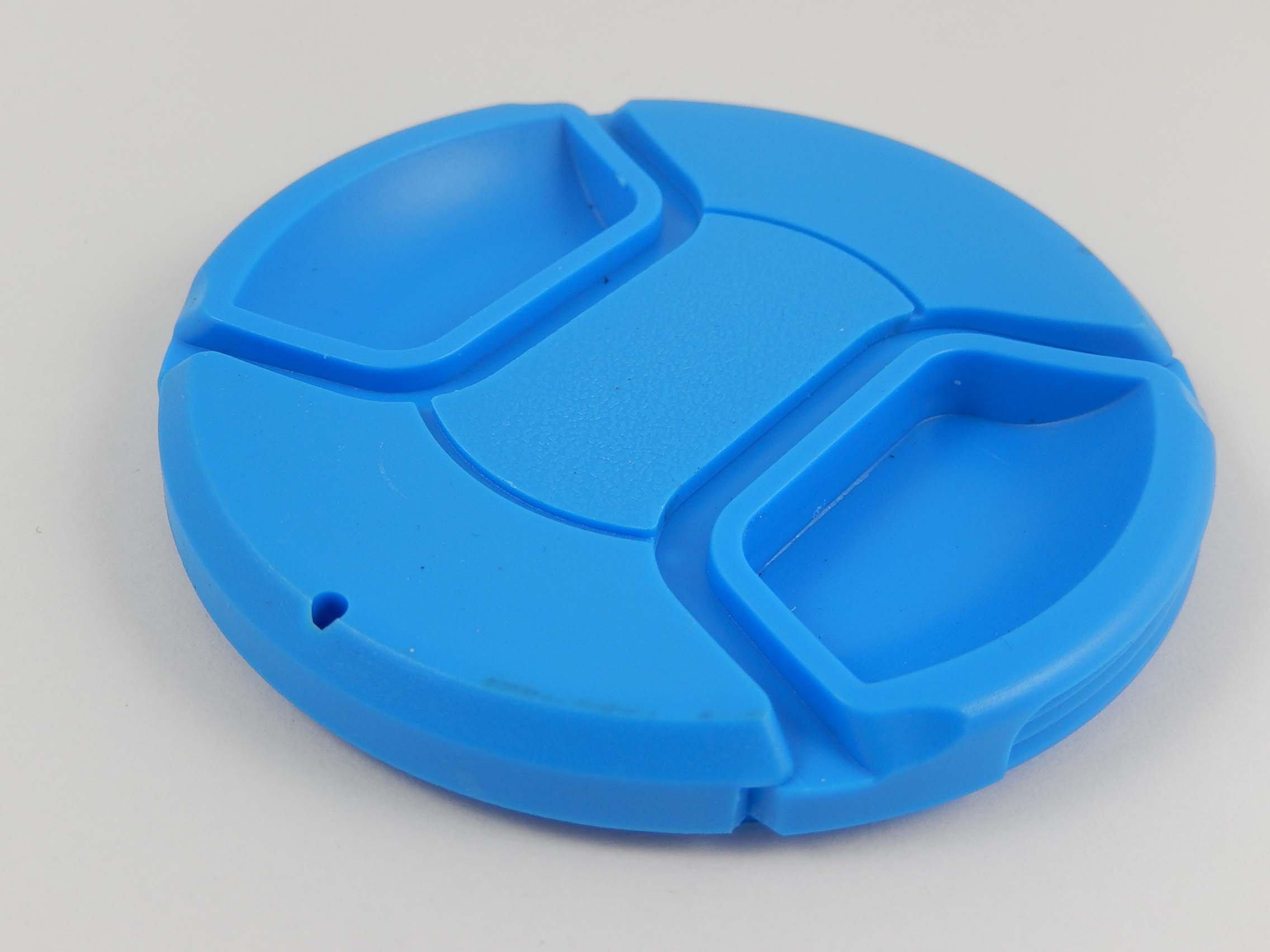 vhbw Tappo per obiettivo da 72mm con Impugnatura interna Snap on blu per Fotocamera Canon EF 35 mm 1