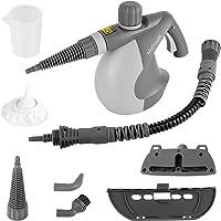 MVPower Dampfreiniger, Mehrzweck Handdampfreiniger mit 10 Zubehörteilen, Sicherheitsverrieglung, 350ml Wasserbehälter, Elektrischer Dampfreiniger für Küche, Bad, Boden, Fenster, Teppich, Autositze