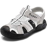 Gaatpot Enfant Sandales et Nu-pieds Bout Fermé en Cuir Bébé Sport Chaussure Sandales de Randonnée d'été pour Garçon…