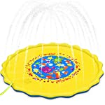 """Bestmaple Plash Pad Kids Toys, 68"""" Sprinkle and Splash Play Mat Pad Toy for Children Infants Toddlers Boys Girls and Kids..."""