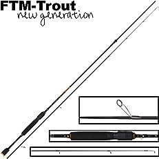 FTM Virus Spoon XP 9 1,91m 0-4,5g - Spinnrute für Forellenblinker, Ultra Light Rute zum Spinnfischen, Forellenrute für Blinker