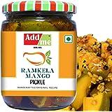 Add me Homemade Ramkela Mango Pickle 500gm Punjabi aam ka achar North Indian Recipe Glass Pack
