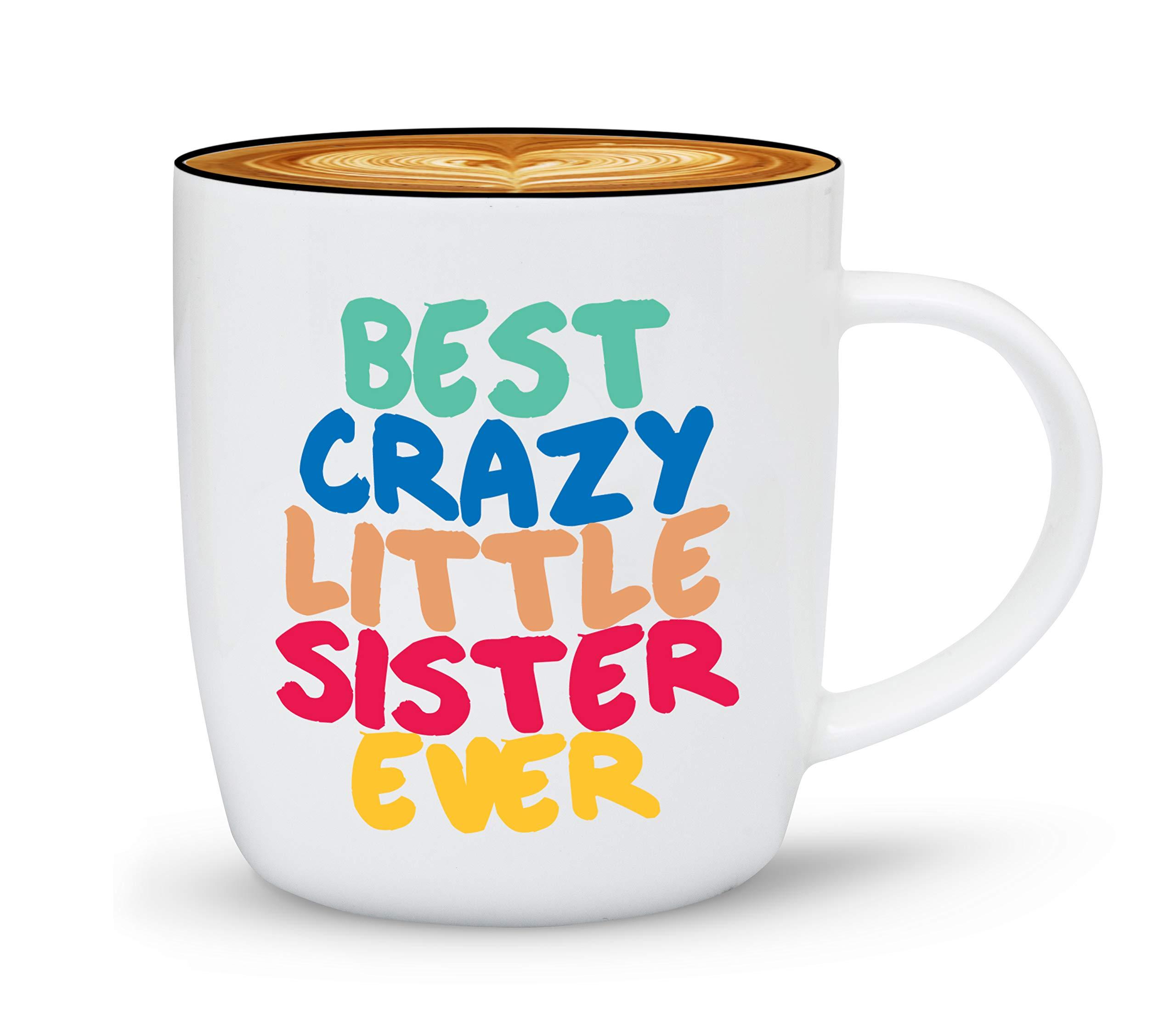 Gifffted Tasse für Beste Kleine Schwester, Geschenkideen Für Schwestern, Kaffeetasse Geschenk für Weihnachten, Geschenke…