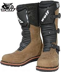 Stivali da Moto: Nuovo Stile Uomini WULFSPORT TRAIL ENDURO Off Road Stivale Moto, Stivali da Corsa (Marrone)